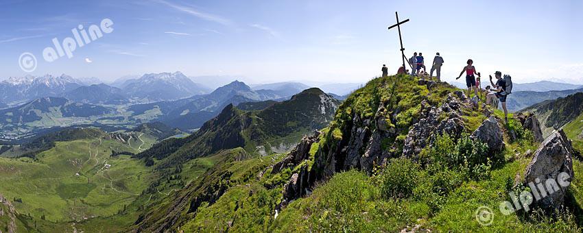 Tirol, Region Pillerseetal: Der Wildseeloder in den Kitzbüheler Alpen, gegen Loferer und Leoganger Steinberge