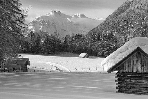 Winterlandschaft am Holzleitensattel, Tirol