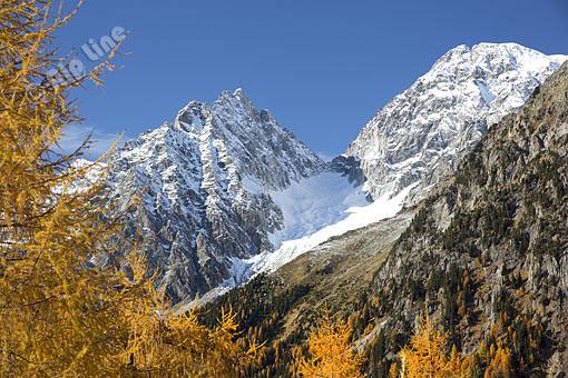 Blick vom Stallersattel gegen Wildgall und Hochgall, (Rieserfernergruppe), Osttirol