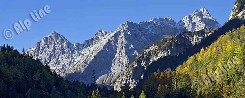 Die Brigkarspitze im Naturschutzgebiet Karwendel, Tirol