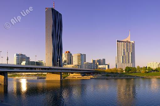 Donaucity, die Wiener Skyline, Wien