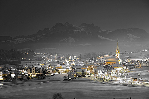 Ellmau am Wilden Kaiser, Tirol gegen Loferer Steinberge