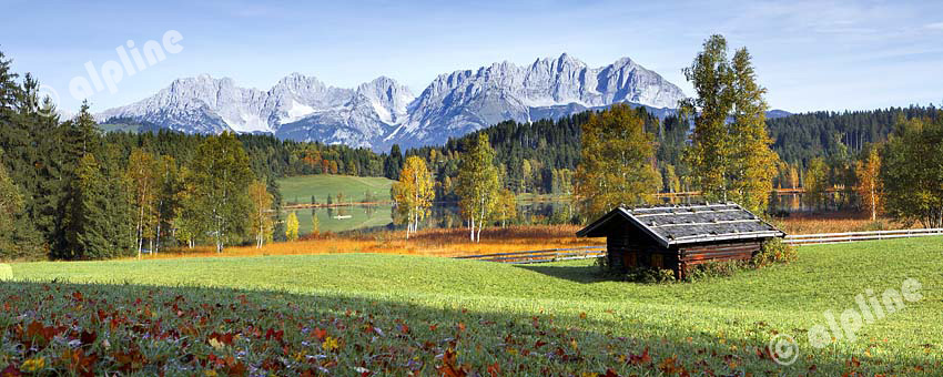 Am Scharzsee bei Kitzbühel gegen Wilden Kaiser, Tirol