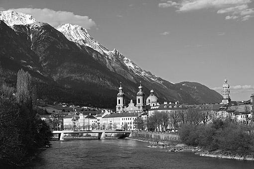Der Inn mit Innsbrucker Dom