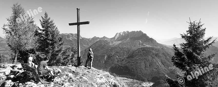 Am Pendling im Unterinntal bei Kufstein gegen Wilden Kaiser, Tirol