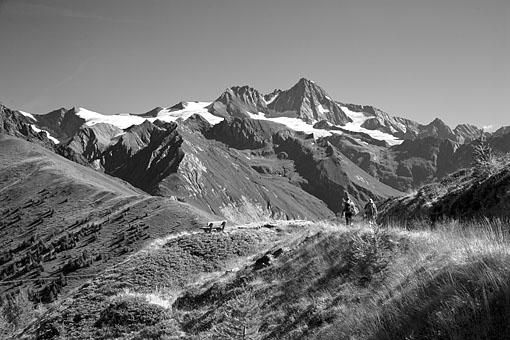 In der Granatspitz Gruppe gegen Großglockner, Nationalpark Hohe Tauern, Osttirol