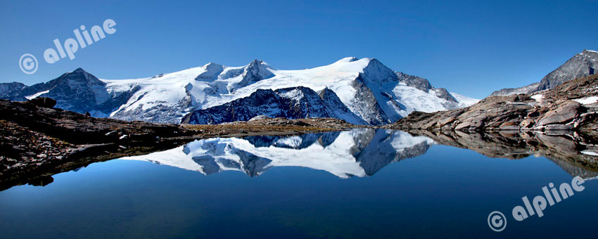 Großvenediger mit Sandebensee, Nationalpark Hohe Tauern, Osttirol