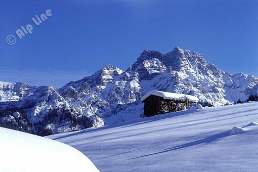 Winter in den Loferer Steinberge bei St. Ulrich am Pillersee, Tirol