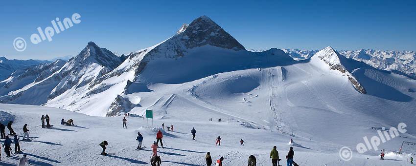 Schigebiet Gefrorene Wand, Olperer (Tuxer Alpen)  im Tuxer Tal, Tirol