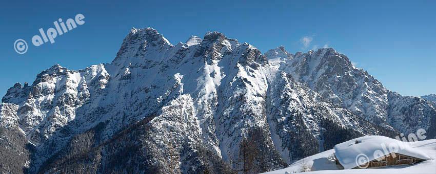 Das Rothorn in den Loferer Steinbergen im Pillerseetal, Tirol