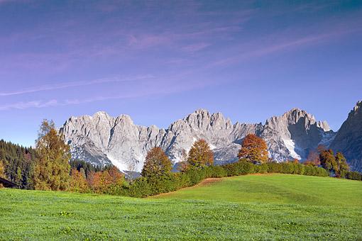Herbststimmung am  Wilden Kaiser bei Going, Nähe Kitzbühel, Tirol