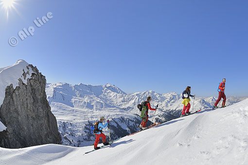 Auf Schitour am Arlberg, Tirol