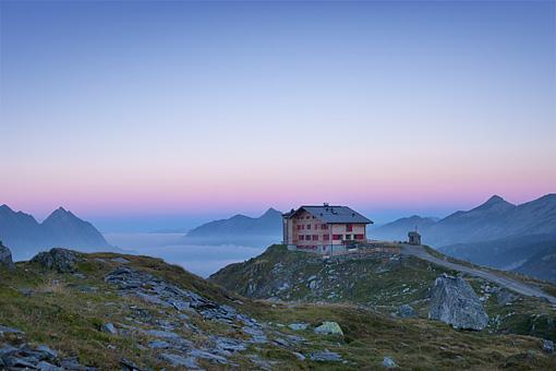 Morgenstimmung am Pfitscher Joch, Zillertal, Tirol