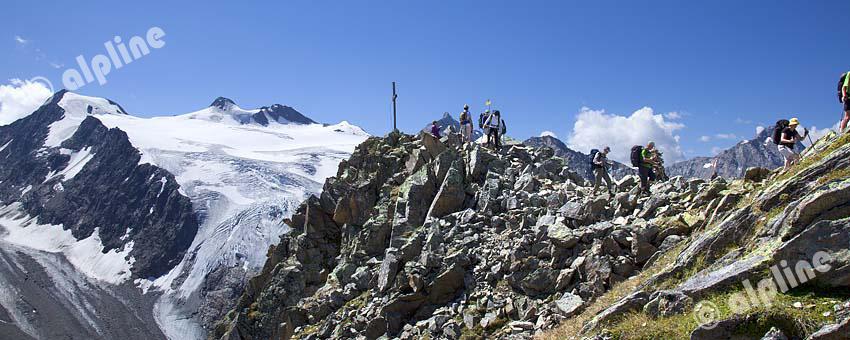 Blick vom Trögler gegen Zuckerhütl, Stubaier Alpen, Tirol
