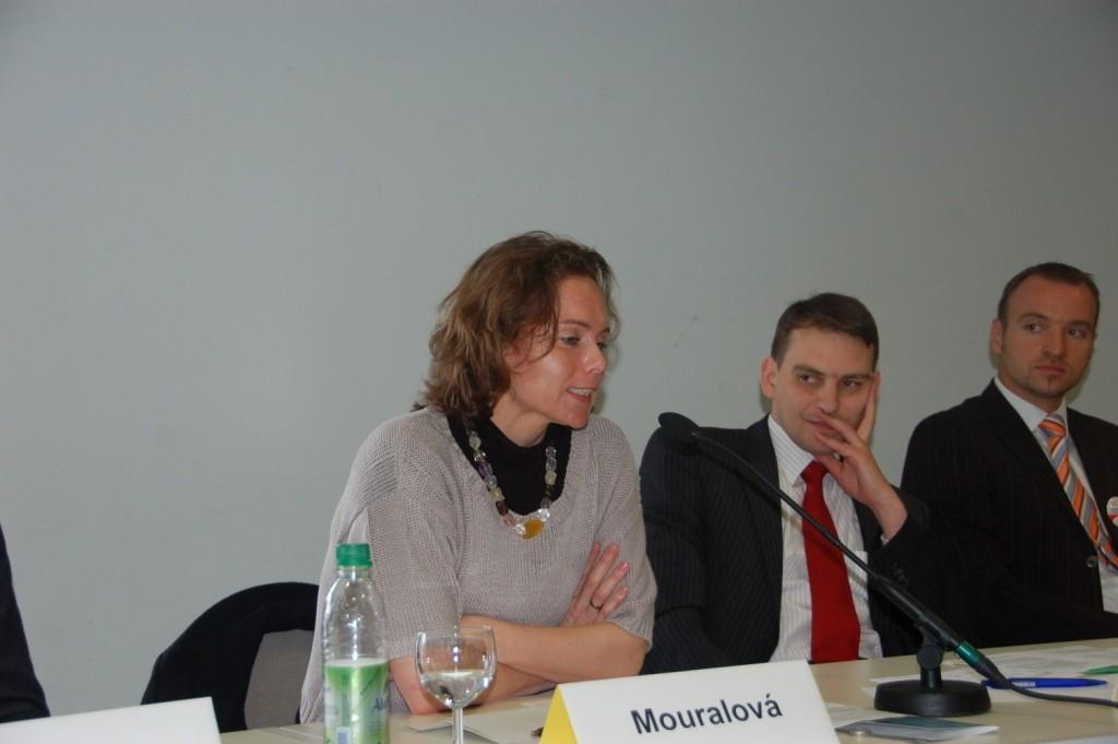Dr.Blanka Mouralová Collegium Bohemicum in der Podiumsdiskussion