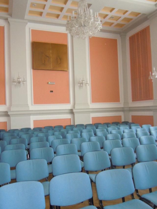 Die Aula des einstigen Gymnasiums