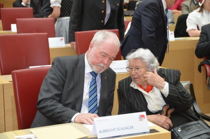 Albrecht Schläger und Frau Olga Sippl
