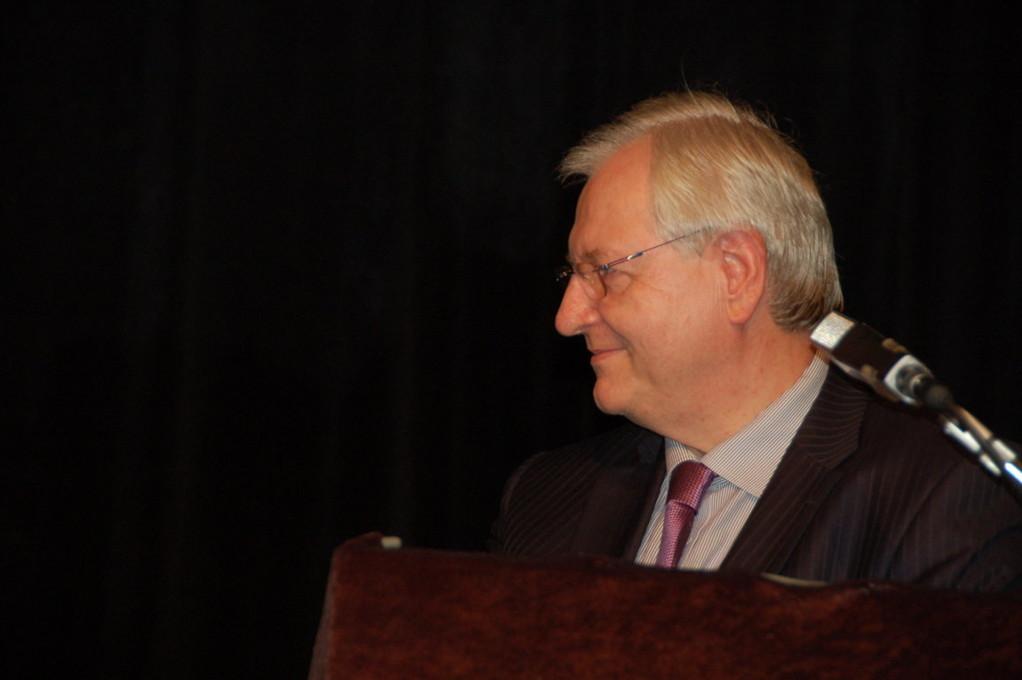 Der Botschafter der Bundesrepublik Deutschland, S.E. Detlef Lingemann bei seiner Ansprache zur Großveranstaltung