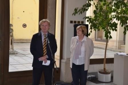 Herr Ralf Kaufmann, der 1. Botschaftssekretär der Botschaft der BRD in Prag als Ehrengast der Vernissage