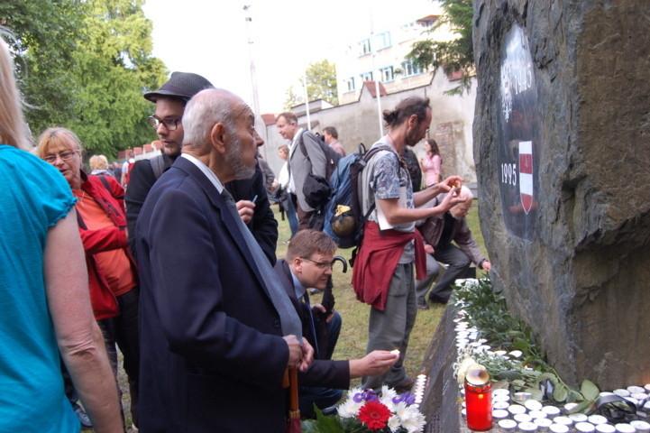 Herr Karl Holomek, langjähriger Vorsitzeder der Gemeinschaft der Roma Mährens