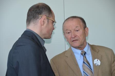Dr. Martin Bachstein im Gespräch mit Herrn Dr. Mirek Němec, Universität Aussig/Elbe