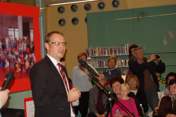 Herr Thomas Motak, Leiter des Kulturreferats der Deutschen Botschaft in Prag bei seiner Eröffnungsansprache