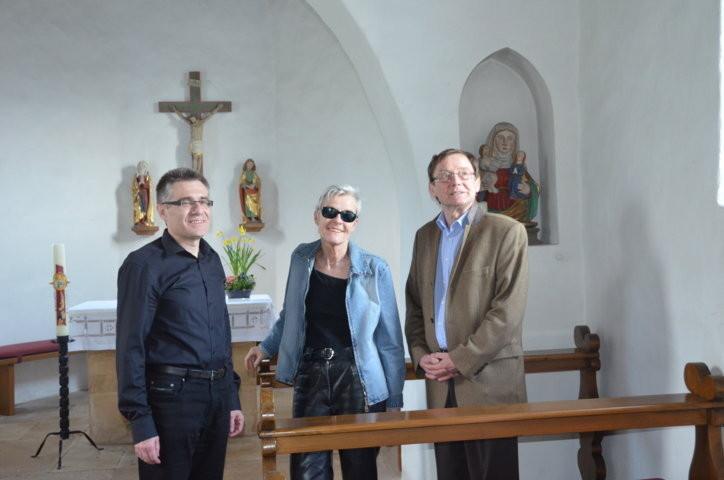 Dr. Zdeněk Mareček, Frau Tina Stroheker,Professor Dr. Hans Dieter Zimmermann, Berlin
