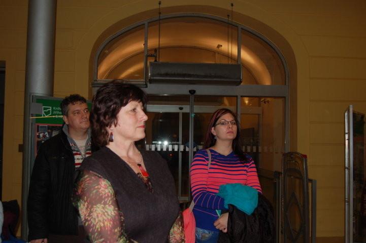 Frau PhDr. Libuše Nivnická, die Direktorin der Zentralbibliothek Brünn