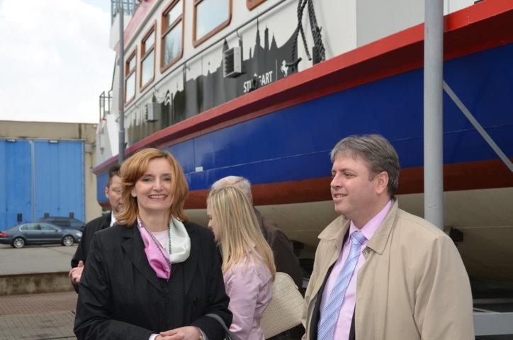 Isabel Fezer, Bürgermeisterin für Soziales Stuttgart und Dr. Frederic Stephan, Referat für Städtepartnerschaften Stuttgart