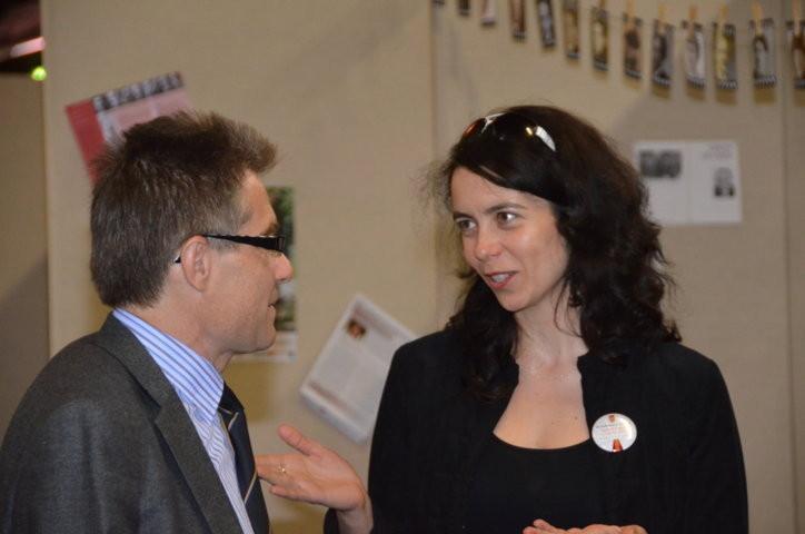 Dr. Zdeněk Mareček und Lucie Černohousová, Prager Literaturhaus