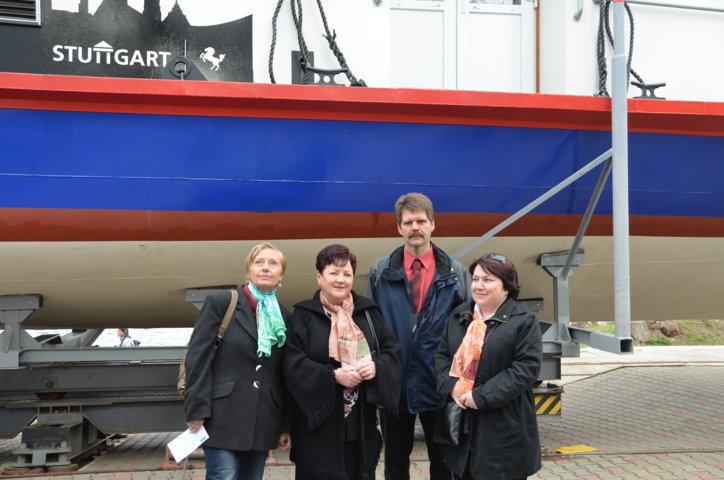Dr. Jarmila Brnická mit Vertretern des Fördervereins für Schulpartnerschaften Brünn