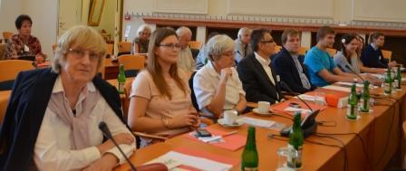 """Die Brünner """"Delegation"""" mit Studierenden der Brünner Uni"""