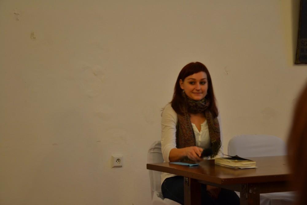 """Kateřina Tučková bei ihrer Autorenlesung """"Vertreibung der Gerta Schnirch"""""""