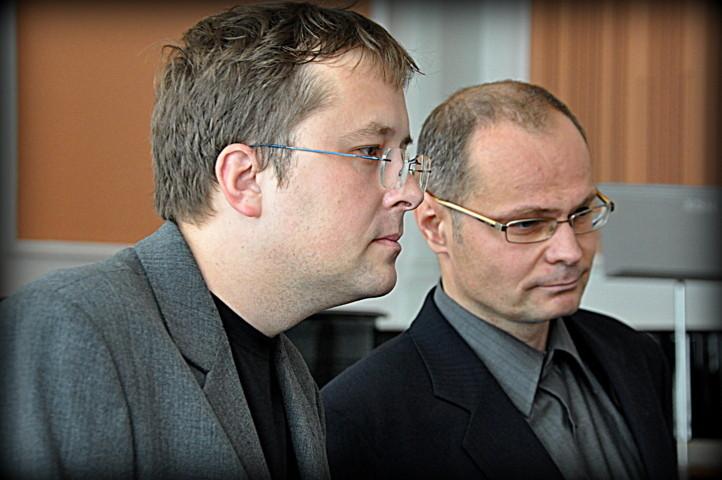 Herr Mgr. Jiří Skoupý und Dr. phil. Mirek Němec