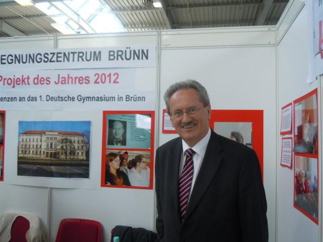 Herr Christian Ude, Oberbürgermeister der Landeshauptstadt München willkommen an unserem Stand
