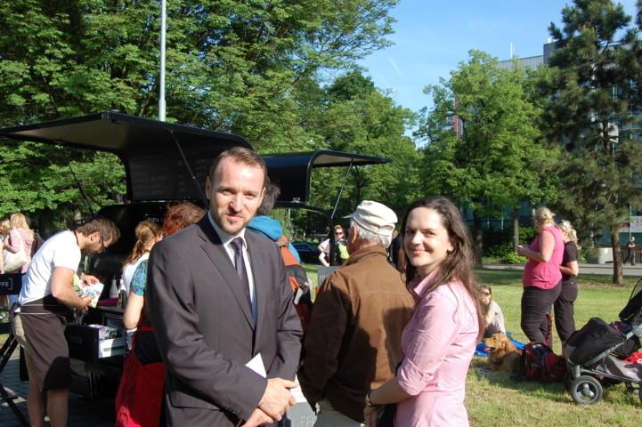 Der Präsident der Landesversammlung und Dr. Sandra Kreisslová