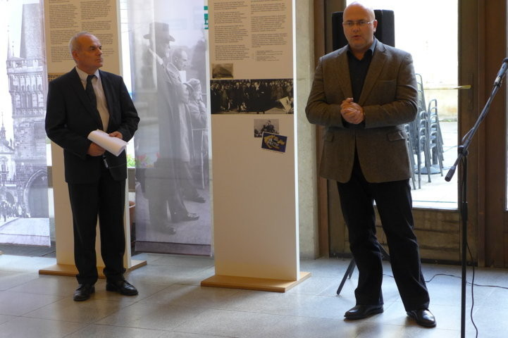 Dr. Martin Reissner, der Direktor des Mährischen Landesmuseums eröffnet die Ausstellung