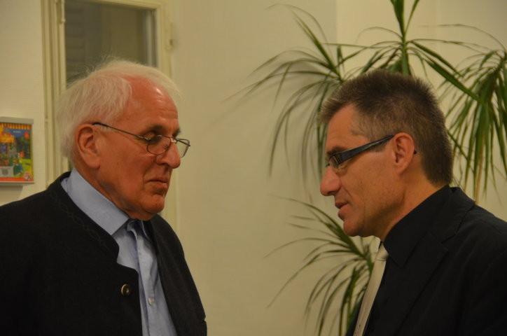 Herr REiner Wieland und Dr. Zdeněk Mareček, Institut für Germanistik, Universität Brünn