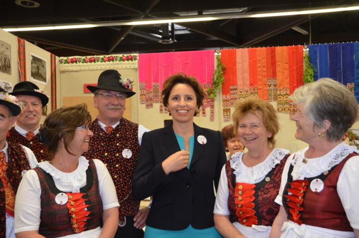 Die bazrische Staatsministerin Frau Christine Haderthauer bei den Wischauern