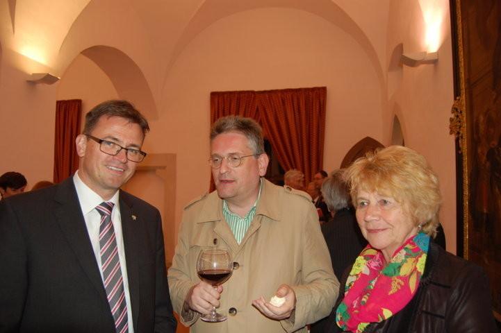 Bürgermeister Dr. Joachim Bläse, Schwäbisch Gmünd und Ulrich Miksch, Seliger-Gemeinde