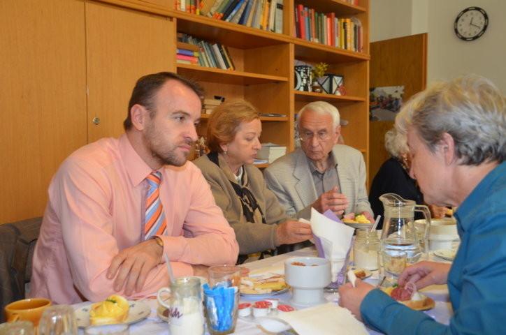 Mgr. Martin Dzingel im Gespräch mit unseren Mitgliedern