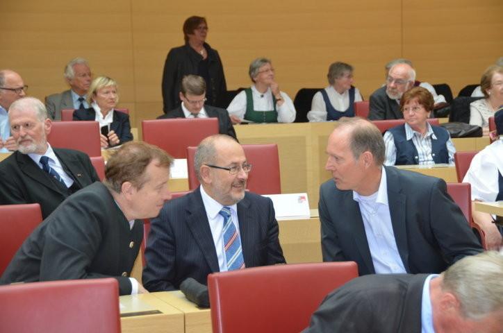 GEneralkonsul der Tschechischen Republik in München, Dr. Milan Čoupek mit Dr. Peter Becher, Adalbert Stifter Verein