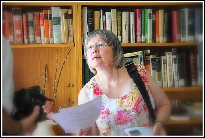 Die Leiterin der Delegaton Frau Waltraud Reimann