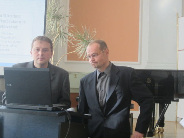 Herr Mgr. Jiří Skoupý und Dr.phil. Mirek Němec