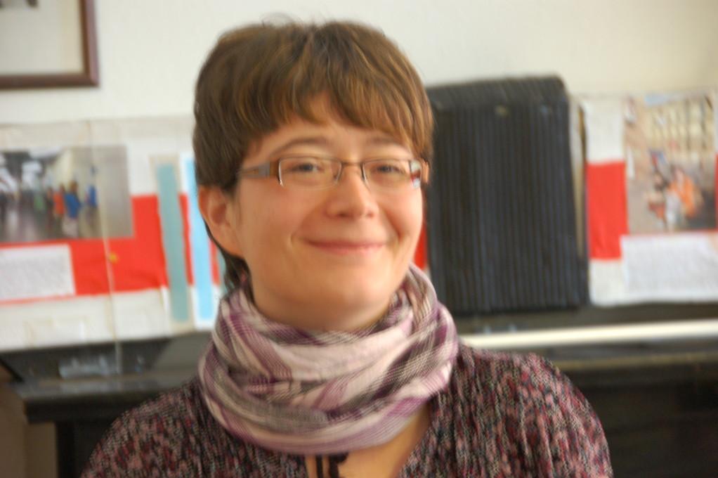 Kerstin Wirshofer, Kulturmanagerin der IfA bei der Landesversammlung der Deutschen in Prag