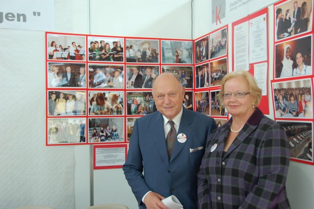 Herr Johann Böhm, 1994 - 2004 Bayrischer Landtagspräsident mit Gattin