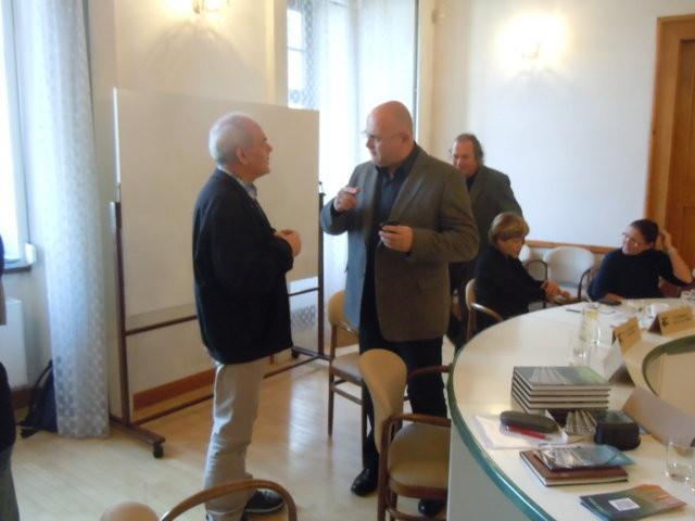 Dr. Jozo Džambo und Dr. Martin Reissner, der Direktor des Mährischen Landesmuseums