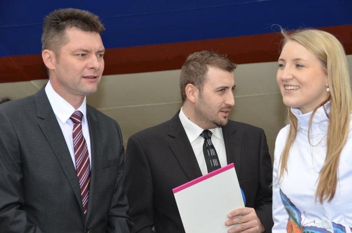 links Miloš Havránek, der Direktor der Städtischen Verkehrsbetriebe der Stadt Brünn
