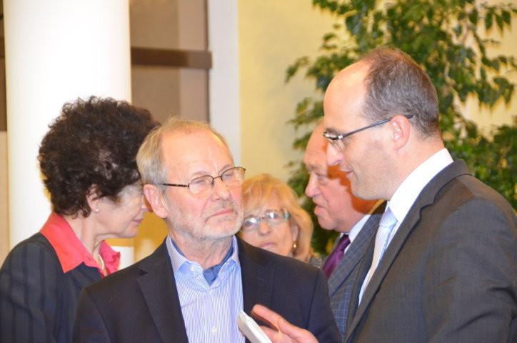 Prof. Dr. Ivo Hammer im Gespräch mit dem Botschafter der Tschechischen Republik,S.E. Jan Sechter