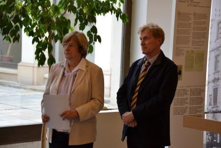Herr Ralf Kaufmann, der 1. Botschaftssekretär der Botschaft der BRD inPrag als Ehrengast der Vernissage